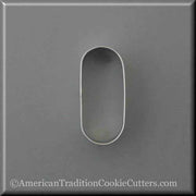 "3"" Oval Pill Tablet Drugs Metal Cookie Cutter - American Tradition Cookie Cutters"