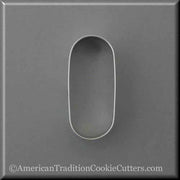 "3.5"" Oval Pill Tablet Drugs Metal Cookie Cutter - American Tradition Cookie Cutters"