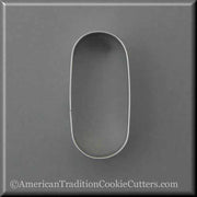"4"" Oval Pill Tablet Drugs Metal Cookie Cutter"