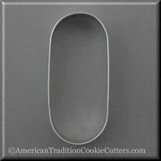 "5"" Oval Pill Tablet Drugs Metal Cookie Cutter"