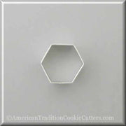 "2"" Hexagon Metal Cookie Cutter-americantraditioncookiecutters"