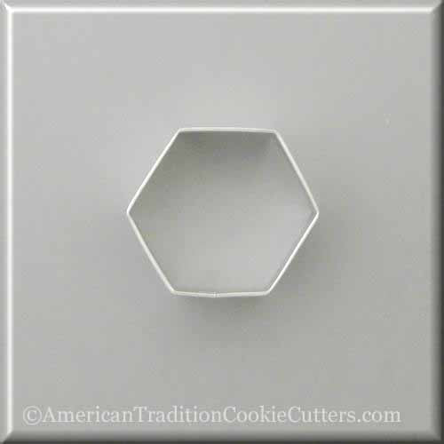 "2.5 ""Cutter Cookie Metal Hexagon - Κόφτες Cookie American Tradition"