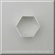 "2.5"" Hexagon Metal Cookie Cutter - American Tradition Cookie Cutters"