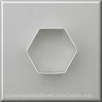 "3"" Hexagon Metal Cookie Cutter"