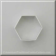 "3"" Hexagon Metal Cookie Cutter - American Tradition Cookie Cutters"