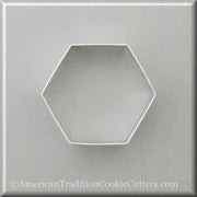 "3.5"" Hexagon Metal Cookie Cutter - American Tradition Cookie Cutters"