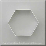 "4"" Hexagon Metal Cookie Cutter-americantraditioncookiecutters"