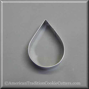 "3"" Tear Drop Metal Cookie Cutter - American Tradition Cookie Cutters"
