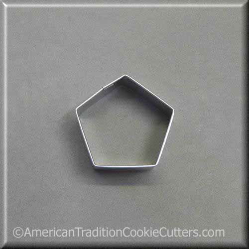 "2"" Pentagon Metal Cookie Cutter - American Tradition Cookie Cutters"