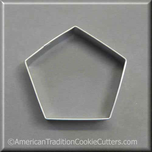 "3.5"" Pentagon Metal Cookie Cutter - American Tradition Cookie Cutters"