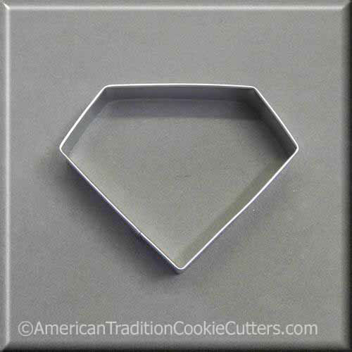 "3.5"" Diamond Metal Cookie Cutter - American Tradition Cookie Cutters"