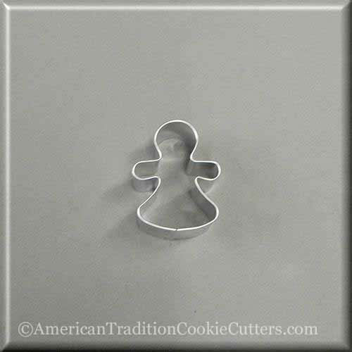 "2"" Mini Gingerbread Girl Metal Cookie Cutter - American Tradition Cookie Cutters"