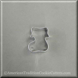 "2"" Mini Stocking Boot Metal Cookie Cutter - American Tradition Cookie Cutters"