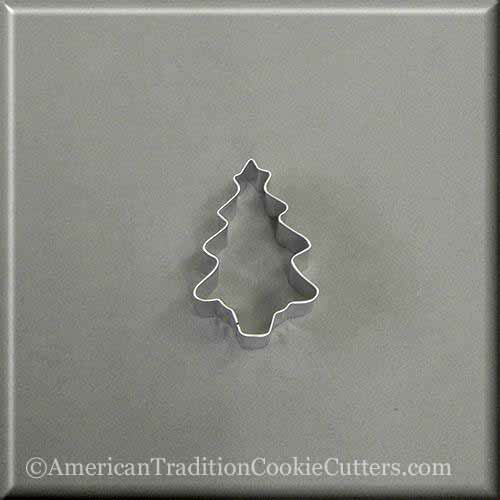 "2"" Mini Tree with Star Metal Cookie Cutter-americantraditioncookiecutters"
