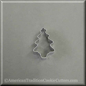"2"" Mini Tree with Star Metal Cookie Cutter - American Tradition Cookie Cutters"