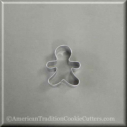 "2"" Mini Gingerbread Boy Metal Cookie Cutter - American Tradition Cookie Cutters"