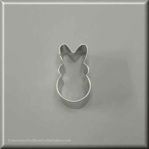 "2"" Mini Easter Bunny Rabbit Metal Cookie Cutter-americantraditioncookiecutters"