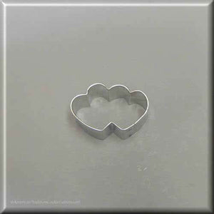 "1.75"" Mini Double Heart Metal Cookie Cutter - American Tradition Cookie Cutters"
