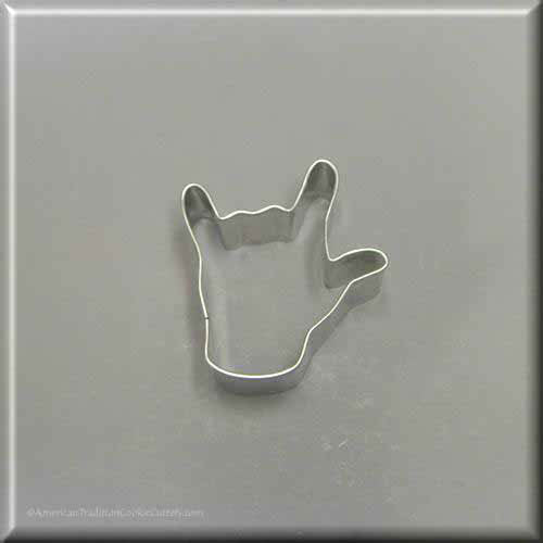 "2.25"" Mini Love Sign Language Metal Cookie Cutter"