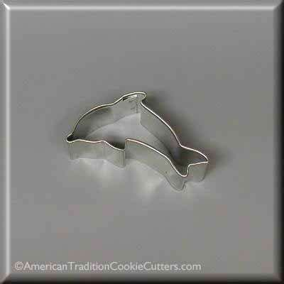 "2"" Mini Dolphin Metal Cookie Cutter"