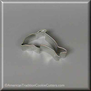 "2"" Mini Dolphin Metal Cookie Cutter - American Tradition Cookie Cutters"