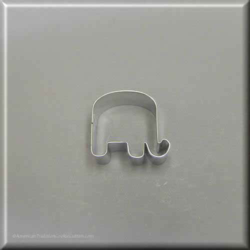 "1.75"" Mini Elephant Metal Cookie Cutter - American Tradition Cookie Cutters"
