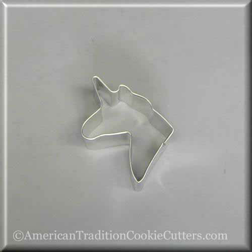 "2.5"" Mini Unicorn Metal Cookie Cutter - American Tradition Cookie Cutters"