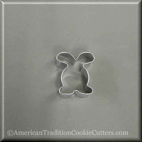 "2"" Mini Easter Bunny Rabbit Metal Cookie Cutter"