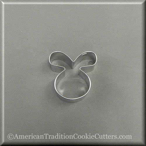 "2"" Mini Easter Bunny Rabbit Face Metal Cookie Cutter"
