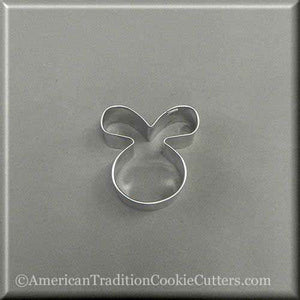 "2"" Mini Easter Bunny Rabbit Face Metal Cookie Cutter - American Tradition Cookie Cutters"