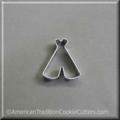 "2"" Mini TeePee Metal Cookie Cutter"