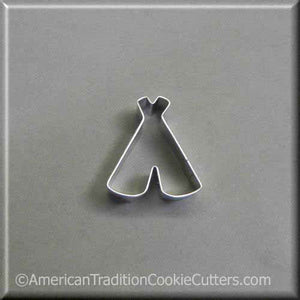 "2"" Mini TeePee Metal Cookie Cutter - American Tradition Cookie Cutters"