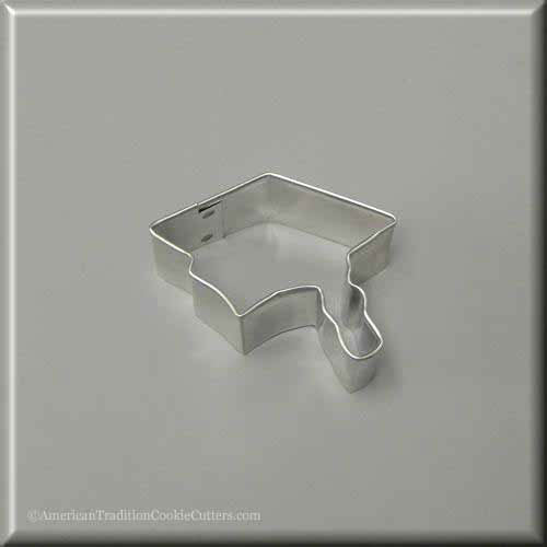 "2"" Mini Graduation Cap Metal Cookie Cutter"