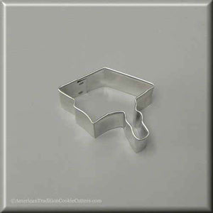 "2"" Mini Graduation Cap Metal Cookie Cutter - American Tradition Cookie Cutters"