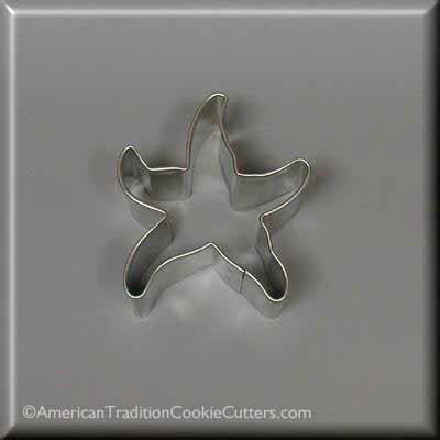 "2.5"" Mini Starfish Metal Cookie Cutter - American Tradition Cookie Cutters"