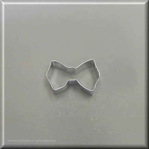 "1.75"" Mini Bow Tie Metal Cookie Cutter - American Tradition Cookie Cutters"