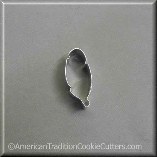 "2"" Mini Feather Metal Cookie Cutter - American Tradition Cookie Cutters"