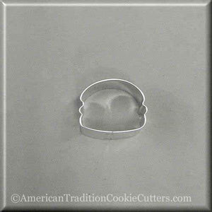 "1.5"" Mini Hamburger Metal Cookie Cutter - American Tradition Cookie Cutters"