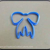 "4"" Bow 3D Printed Plastic Cookie Cutter-americantraditioncookiecutters"