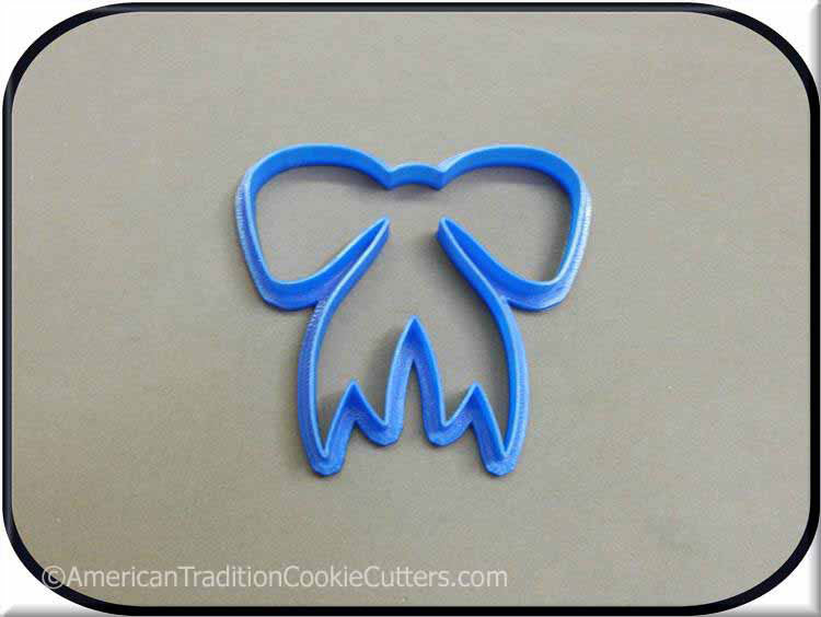 "4"" Bow 3D Printed Plastic Cookie Cutter - American Tradition Cookie Cutters"