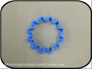 "3.5"" Snowflake Ornament 3D Printed Plastic Cookie Cutter - American Tradition Cookie Cutters"
