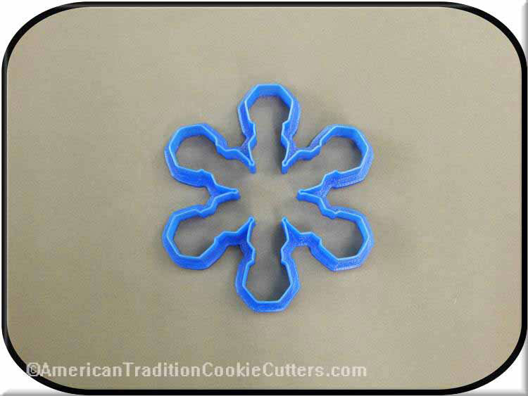 "4"" Snowflake Ornament 3D Printed Plastic Cookie Cutter-americantraditioncookiecutters"