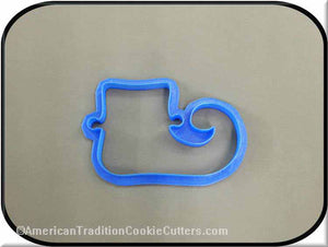 "4"" Elf Boot 3D Printed Plastic Cookie Cutter-americantraditioncookiecutters"