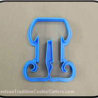 "4"" Elf Legs 3D Printed Plastic Cookie Cutter-americantraditioncookiecutters"