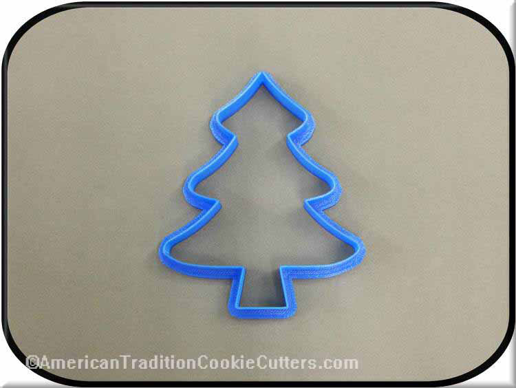 "4"" Christmas Tree 3D Printed Plastic Cookie Cutter - American Tradition Cookie Cutters"