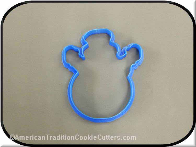 "4"" Snowman 3D Printed Plastic Cookie Cutter"