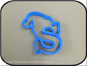 "4.5"" Letter S with Hat 3D Printed Plastic Cookie Cutter-americantraditioncookiecutters"