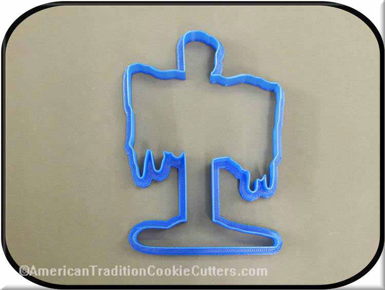 "5.25"" Snow Covered North Pole Sign 3D Printed Plastic Cookie Cutter-americantraditioncookiecutters"