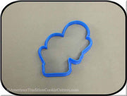 "4.5"" Double Mittens 3D Printed Plastic Cookie Cutter"