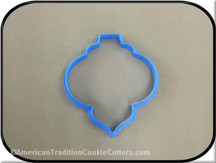 "4"" Christmas Ornament 3D Printed Plastic Cookie Cutter"